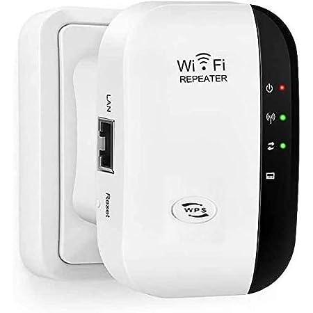 SOOTEWAY Repetidor WiFi, 300Mbps Extensor WiFi, Amplificador WiFi 2.4GHz con Repertidor/Ap Modo y la función WPS, 1 Puerto Fast Ethernet Wireless ...
