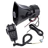 takestop Sirena CENTRALINA HW_1005 7 CANALI 100W Waterproof Allarme con Microfono MEGAFONO Diversi Toni Controllo Emergenza Auto 12V