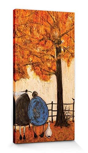 1art1 Sam Toft - Die Vier Jahreszeiten, Herbst Bilder Leinwand-Bild Auf Keilrahmen   XXL-Wandbild Poster Kunstdruck Als Leinwandbild 60 x 30 cm