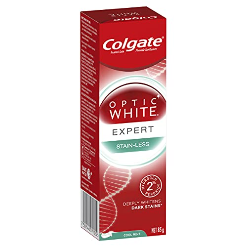 Colgate Optic White Expert Stain-Less Teeth Whitening Toothpaste, 85g with 2 percent Hydrogen Peroxide