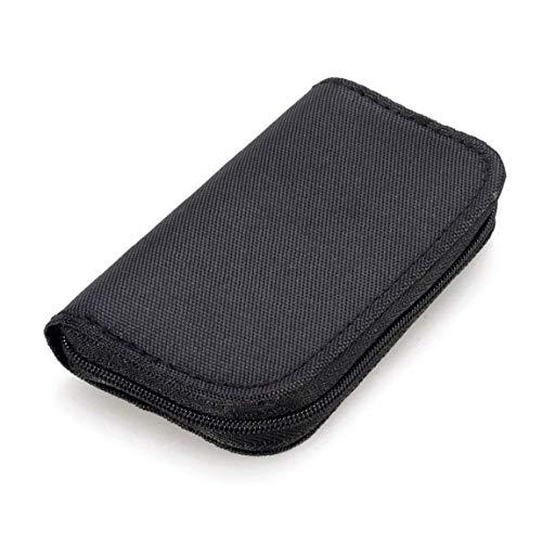 22 Slots Speicherkarten-Tasche Wasserdicht SD-Kartenhalter-Tragetasche Micro SDHC SDXC TF SIM CF-Karten-Schwarz