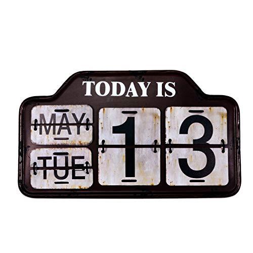 【USA アメリカン デザイン】カレンダー USA 日めくり カフェ ガレージ インダストリアル ビンテージ バイカー インテリア 看板 BR ;AVCA-005