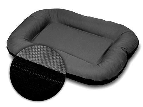 E-dogbed Polyester Leo Dog Basket Pet Sofa Bed, M - 90x70 cm, Grey