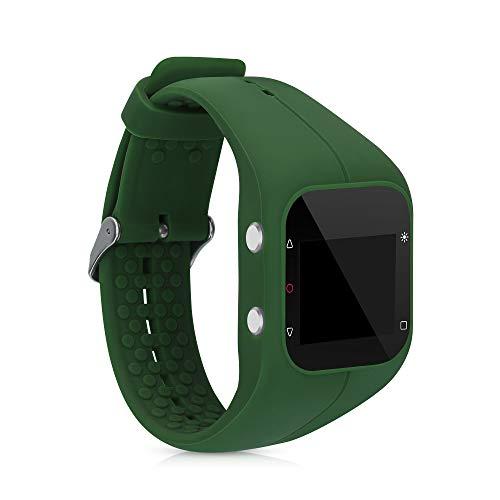 kwmobile Pulsera Compatible con Polar A300 - Brazalete de Silicona en Verde Oscuro sin Fitness Tracker