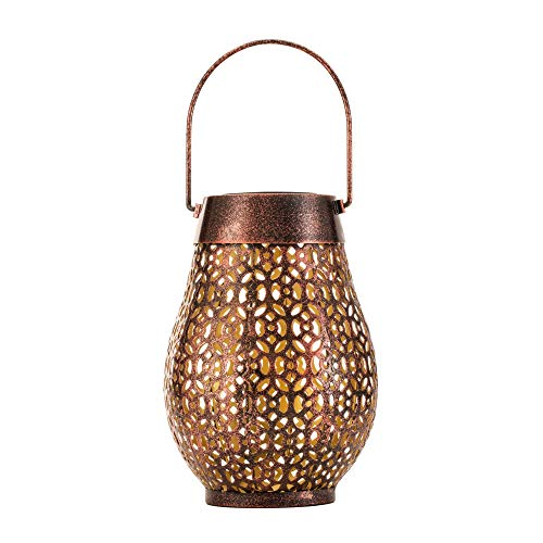 Pauleen lantern 48067 Sunshine Wish Solar-Laterne Kupfer für außen-Balkon oder Garten, Metall