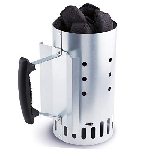 Bruzzzler Ciminiera Kompakt, accendi Fuoco, accendi Carbone 25,5 x 14,5 x 26,7cm