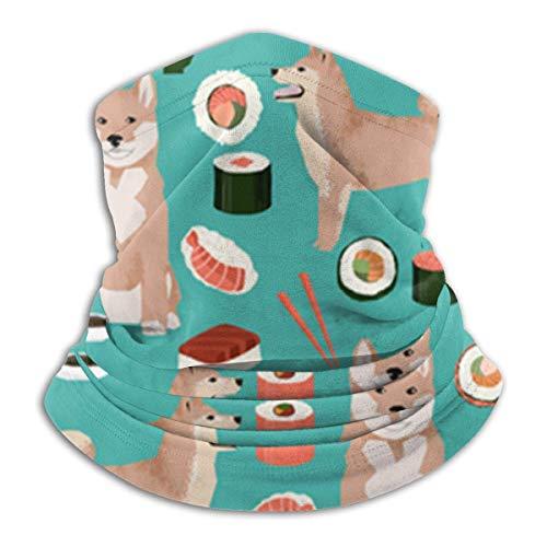 Weiping Shop, Shiba Inu en Sushi Novelty Dogs, uniseks fleece nek warmer gezicht warmer nek buis nek schaar nek gaiters