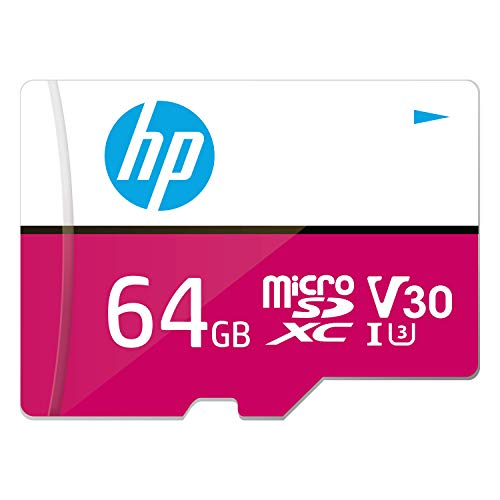 HP Micro SD Card 64GB with Adapter U3 V30 (Pink) (Write Speed...