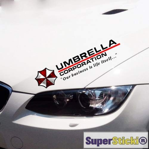 Umbrella Corporation Sponsoraufkleber ca 30 cm Tuning Racing Rennsport Renndecal Aufkleber Sticker Decal aus Hochleistungsfolie Aufkleber Autoaufkleber Tuningaufkleber Racingaufkleber Rennaufkleber