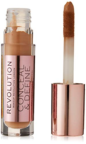 MAKEUP REVOLUTION Conceal and Define Concealer - C11 - Concealer mit Applikator, 1er Pack(1 x 3.4 milliliters)