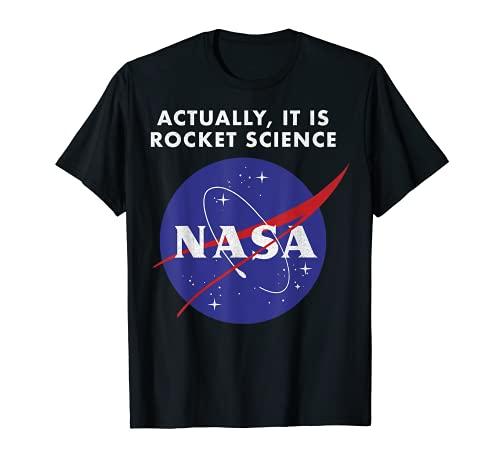 NASA Logo Actually It Is Rocket Science Graphic T-Shirt