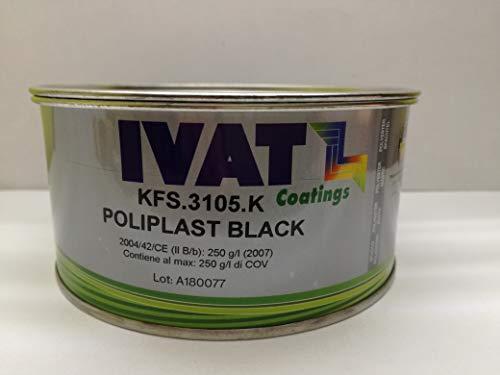 IVAT KFS.3105.E Stucco BICOMPONENTE per PLASTICHE DURE POLIPLAST Nero 0,375 LT