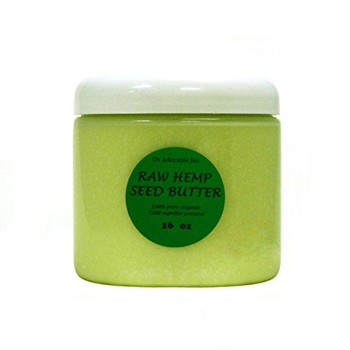 Hemp Seed Butter Organic 100% Pure Raw 16 Oz / 1lb