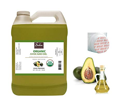 4 LBS / 64 FL.OZ Certified Organic Unrefined Extra Virgin Raw Avocado Oil