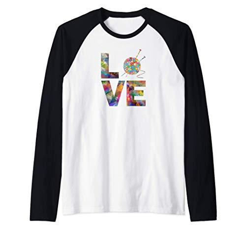 Tejedora regalo de punto, ganchillo Amor Yarn Patrones de Camiseta Manga Raglan