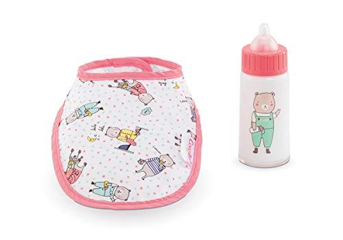 Corolle 9000140680 Mon Grand Poupon Lätzchen und Flasche für alle 36-42cm Babypuppen