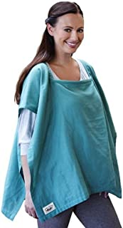 Poncho Baby Nursing Cover, Square Emerald