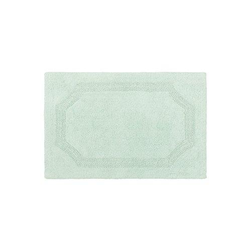 Laura Ashley laymb005964Reversible Alfombra de baño de algodón (, 17x 24', Aqua, Agua, 17x24 Inch