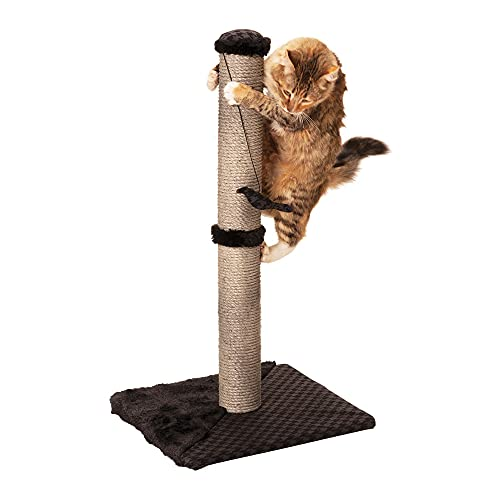 Max & Marlow Cat Scratch Post 26' | Tall Cat Scratcher Post with Sisal Rope | Features Hanging &...
