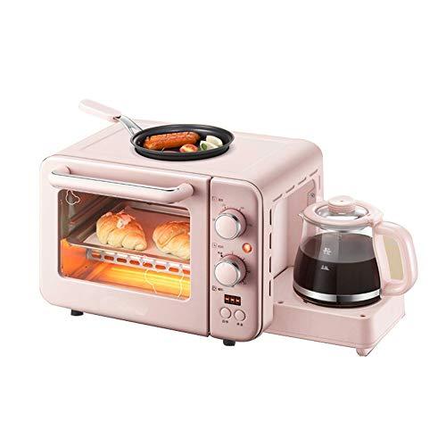 YLLYLL Horno electrico de sobremesa Máquina de Desayuno 8l Mini Horno eléctrico Huevos de café Huevos Freír 3 en 1 Pandero para el hogar Pizza Parrilla Multifunción Pequeño ayudante