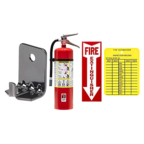10 Lb. Victory Type ABC Dry Chemical Fire Extinguisher with Wall Hook and Inspection Tag