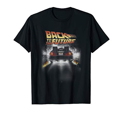 Back To The Future DeLorean and Logo T-shirt, Many Colors for Adult and Child
