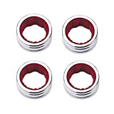 LANGING 4Pcs Stainless Steel Wine Drip Ring Collar Red Wine Bottle Collar Alcohol Stop Ring Silver