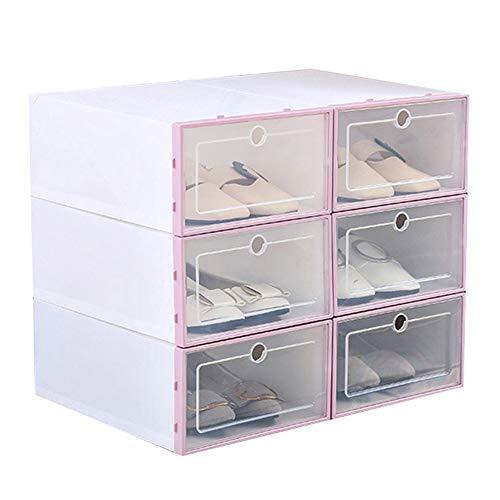 LILOVE Cajas De Zapatos con Tapas Apilables, Cajas De Almacenamiento De Zapatos, Cajas De Plástico Transparente para Zapatos Caja Organizadora para Damas Y Hombres (1)