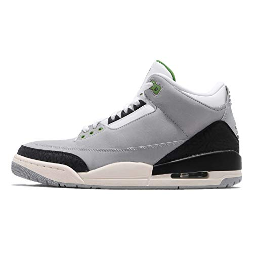 Nike Air Jordan 3 Retro, Zapatillas de Deporte para Hombre, Multicolor (Lt Smoke Grey/Chlorophyll/Black/White 006), 47 EU