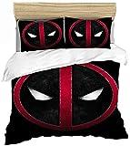 QWAS Marvel - Juego de funda nórdica y funda de almohada (140 x 210 cm + 80 x 80 cm x 2)