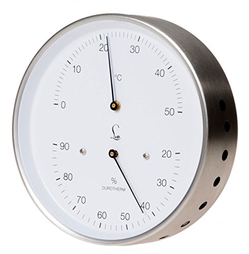 Fischer LUFFT Klimamesser Durotherm, Haar-Hygrometer mit Bimetall-Thermometer, 130mm