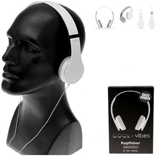 Kingdiscount 60 Stück COOL Kopfürer HD COOL-Vibes Light Weiß