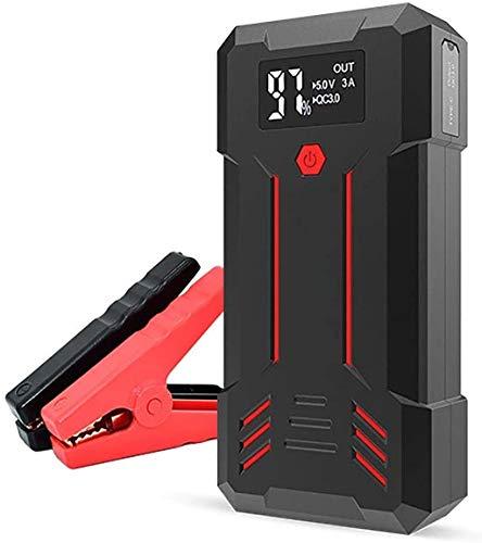 Metdek Cargador de batería de coche de 1200 A y arrancador de batería portátil externo de 12000 mAh con carga USB, generador de emergencia y potenciador de batería LED
