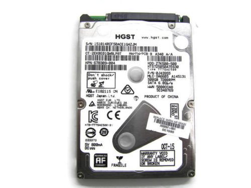 HP Genuine 500GB 7200RPM Hitachi HGST SATA Hard Drive (HDD) 703267-001