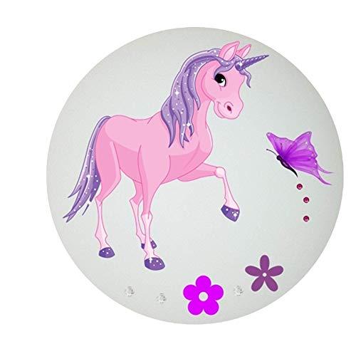 Deckenleuchte/Wandlampe Kinder * Einhorn Unicorn Pferd 3 * auch LED - mit/ohne Name