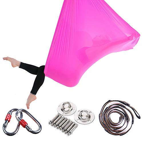 Best Prices! Gohbqany-SP Yoga Hammock Aerial Yoga Hammock Home Stretch Belt Sling Elastic Widened Yo...