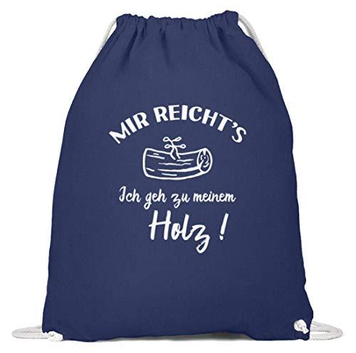 shirt-o-magic Tischler Schreiner: Ich geh zu meinem Holz! - Baumwoll Gymsac -37cm-46cm-Marineblau