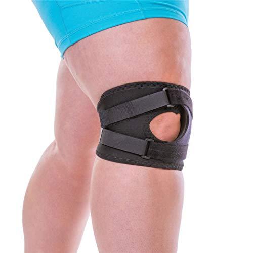 BraceAbility Plus Size Patellar Tracking Short Knee Brace   XXL Walking & Exercise Support Sleeve Stabilizer for Post Kneecap Dislocation, Tendonitis, Patellofemoral Pain & Arthritis (2XL)