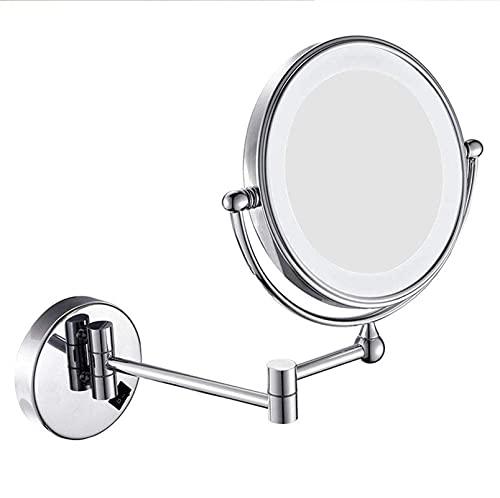 ROSG Espejo de Maquillaje Espejo de Maquillaje para baño con Aumento, Extensible...