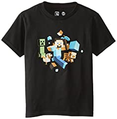 Minecraft Camiseta de Manga Corta para Niño - Run Away!
