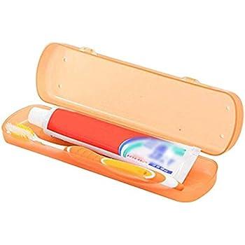 Aeljinh Estuche de viaje para cepillo de dientes mini caja para pasta de dientes pequeño y