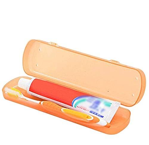 Aeljinh Estuche de viaje para cepillo de dientes mini caja para pasta de dientes pequeño y portátil pequeño objeto soporte para cepillo de dientes accesorios para el baño caja para cepillo eléctrico 1