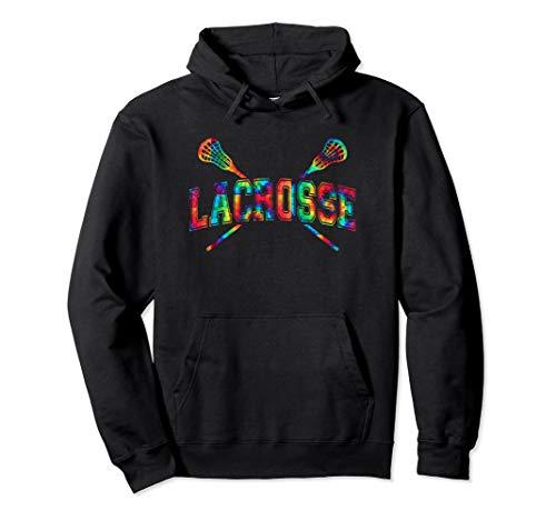 Lacrosse Hoodie Tie-dye Crossed Sticks Cool Lacrosse Hoodie