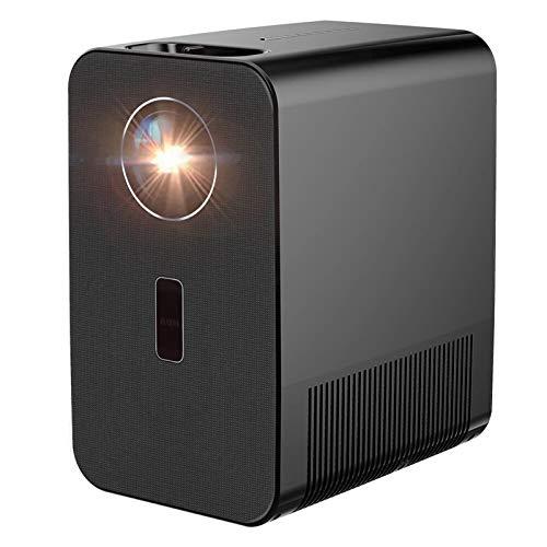 Proyectores LCD LED Proyector 1080P Soporte 4K Resolución5800 Lúmenes 5000: 1 Corrección de piedra angular al aire libre Película interior de video interior Home Cinema Teatro con control remoto para