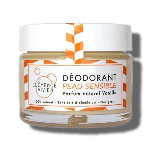 Déodorant Naturel Peau sensible Vanille - CLEMENCE et VIVIEN