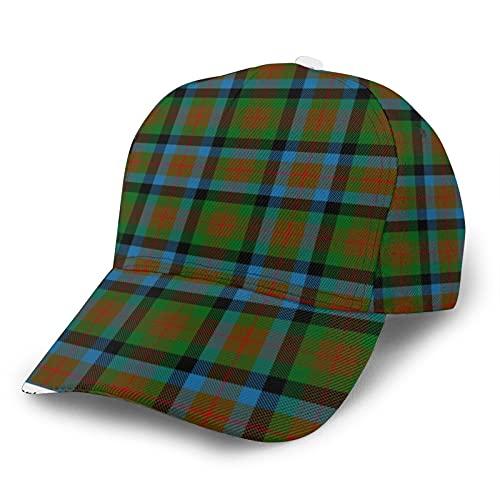 Jack16 Gorra de béisbol ajustable para hombre y mujer, sombrero para papá, de clan escocés, de Tennant, a cuadros, ajuste para cola de caballo juvenil, señoras de tenis, pelota de golf, gorra