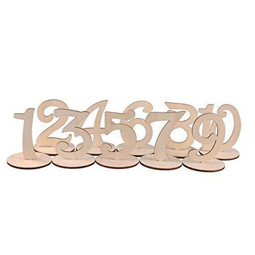 /12/ /Pack de 12 PIXNOR de madera n/úmero de mesa en varitas para boda decoraci/ón del hogar 1/