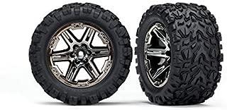 Traxxas 6774X 2.8 Black Chrome RXT Wheels with Talon Extreme Tires (2WD Rear)