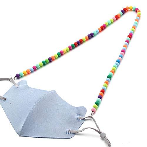 lijun Support de Visage pour Enfants lanière Multicolore chaîne perlée Repose-Lunettes Sangle d'oreilles