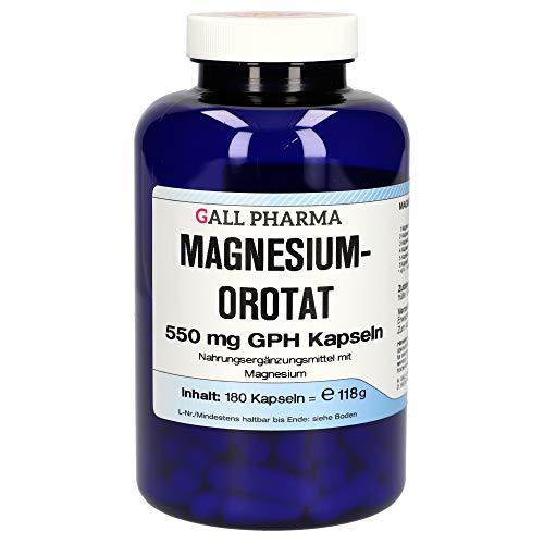 Gall Pharma Magnesiumorotat- 550 mg GPH Kapseln, 180 Stück